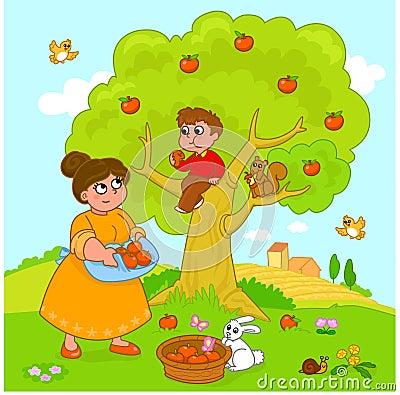 Cartoon Apple Tree Royalty Free Stock Photo - Image: 19791435