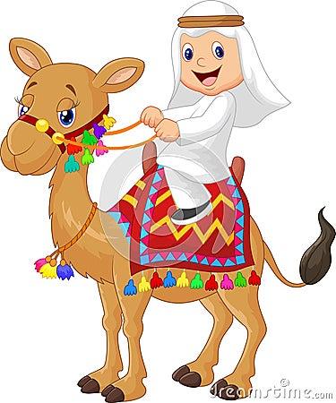 Free Cartoon Arab Boy Riding Camel Stock Photo - 45759100