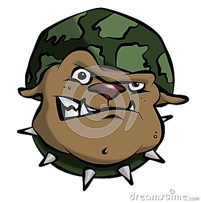 Cartoon Army Bulldog