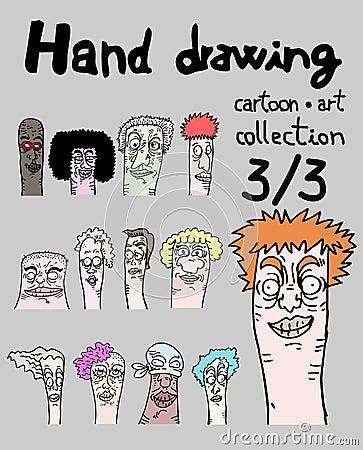 Cartoon art collection, three of three