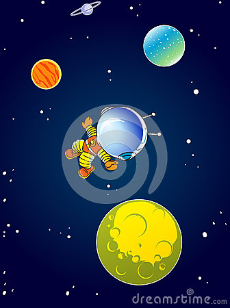cartoon astronaut in outer space - photo #10