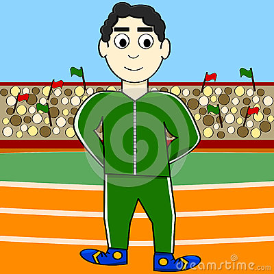 Cartoon athlete