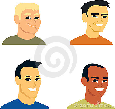 Cartoon Avatar Portrait SET 2