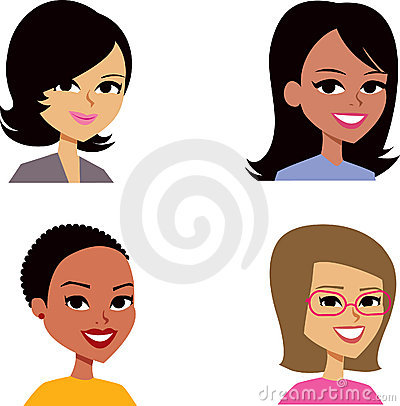 Free Cartoon Avatar Portrait SET 3 Royalty Free Stock Images - 14471699
