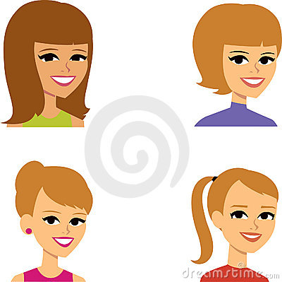 Cartoon Avatar Portrait SET 4