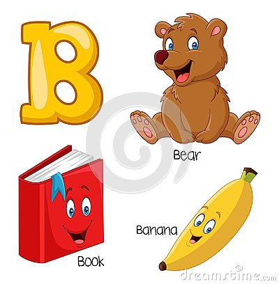 Free Cartoon B Alphabet Royalty Free Stock Photos - 123696818