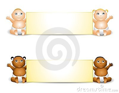 Cartoon Baby Banners
