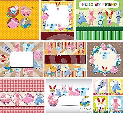 Cartoon baby card