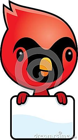 Free Cartoon Baby Cardinal Sign Royalty Free Stock Image - 47399026