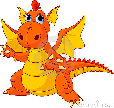 Free Cartoon Baby Dragon Royalty Free Stock Photos - 16747488