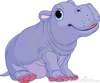 Cartoon baby Hippo boy