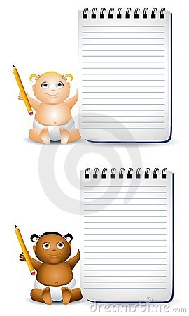 Cartoon Baby Notepads