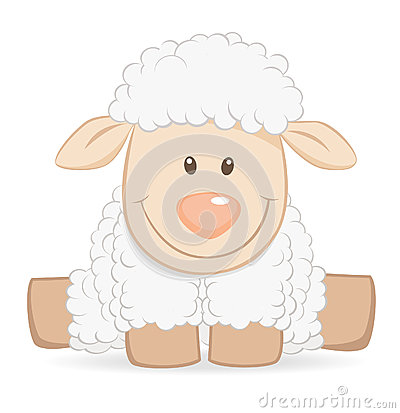 Free Cartoon Baby Sheep Stock Images - 25113624