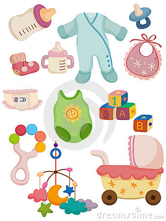 Free Cartoon Baby Stuff Icon Royalty Free Stock Images - 17900619