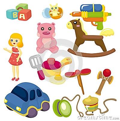 Cartoon baby toy icon