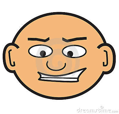 Cartoon bald head