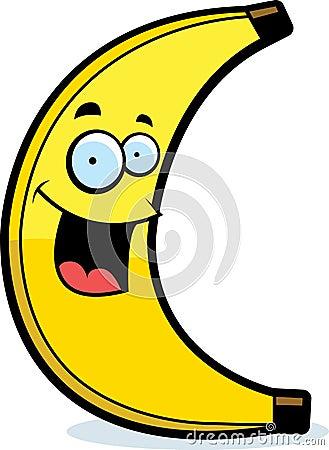 cartoon banana smiling stock vector image 41819687