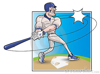 Cartoon Baseball Batter