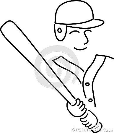 Cartoon Baseball Player/ai