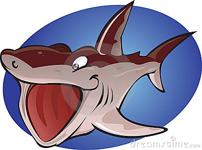 Cartoon Basking Shark