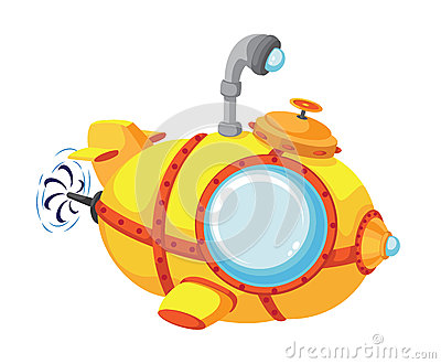 Cartoon bathyscaphe