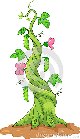 Free Cartoon Bean Stalk Royalty Free Stock Image - 50839896