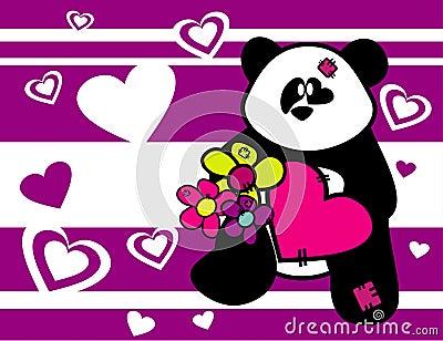 Cartoon bear animals in love