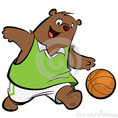 Cartoon Bear Basketball Player Stock Image Image 29997321