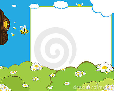 Cartoon bees photo frame