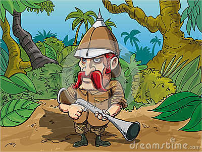 Cartoon Big Game Hunter Stock Image Image 37709961