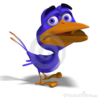 Free Cartoon Bird Twitter Royalty Free Stock Images - 9407789