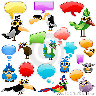 Free Cartoon Bird With Bubbles Stock Image - 16132231