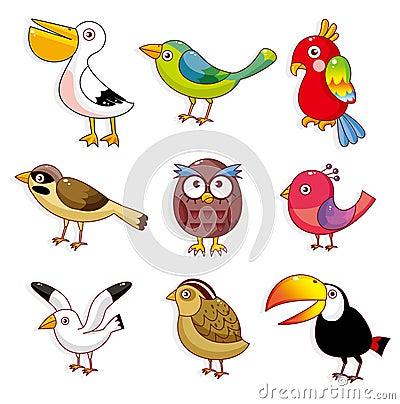 Free Cartoon Birds Icon Royalty Free Stock Images - 17635709