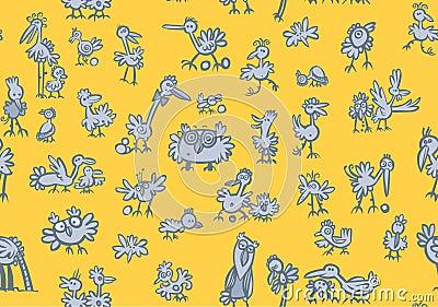 Cartoon birds Pattern