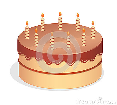 Cartoon Birthday Cake Stock Vector - Image: 51748977
