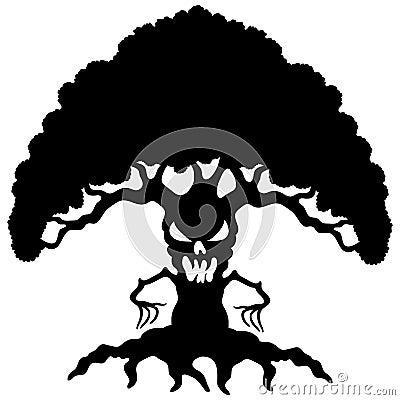 Cartoon black tree.