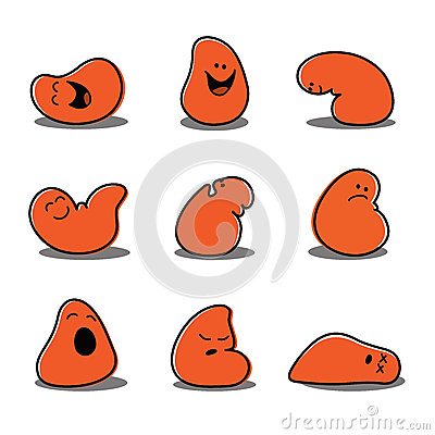 Cartoon Blob Characters