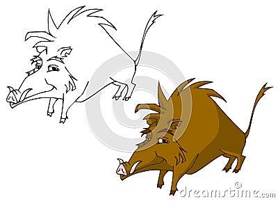 Cartoon boar