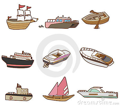 Cartoon boat icon