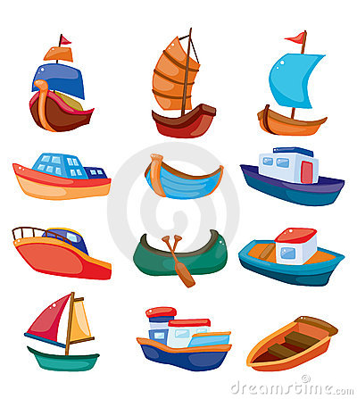 Free Cartoon Boat Icon Stock Images - 22139674