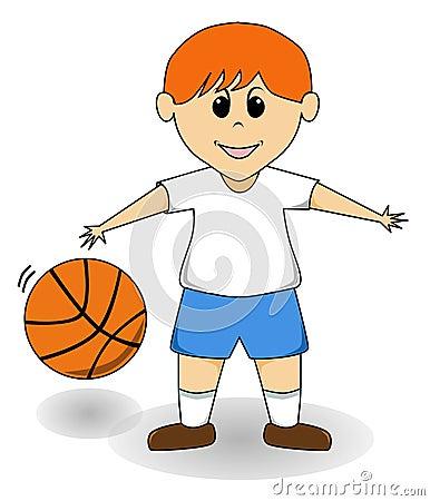 Cartoon Boy - Basketball