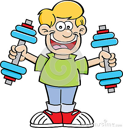 Free Cartoon Boy Exercising Royalty Free Stock Image - 42270426