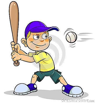 Cartoon Boy Playing Baseball Stock Illustration - Image ... Little Boy Playing Baseball