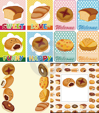 Cartoon bread card