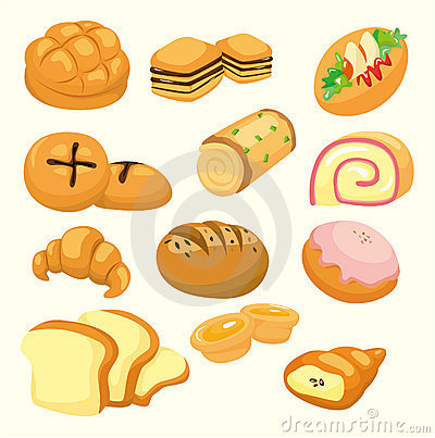Cartoon bread icon