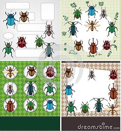 Cartoon bug card