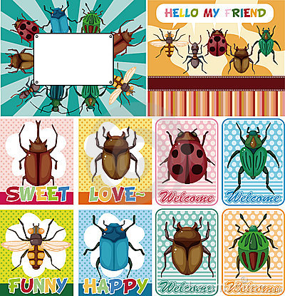 Cartoon bug card