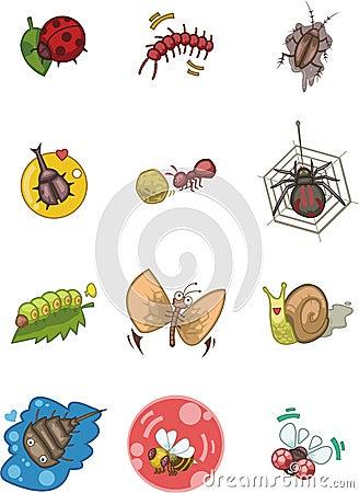 Cartoon bug icon