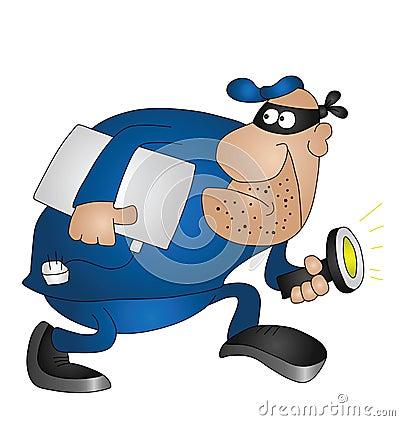 Cartoon Burglar Royalty Free Stock Image - Image: 15626606