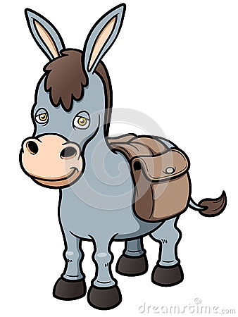 Cartoon burro